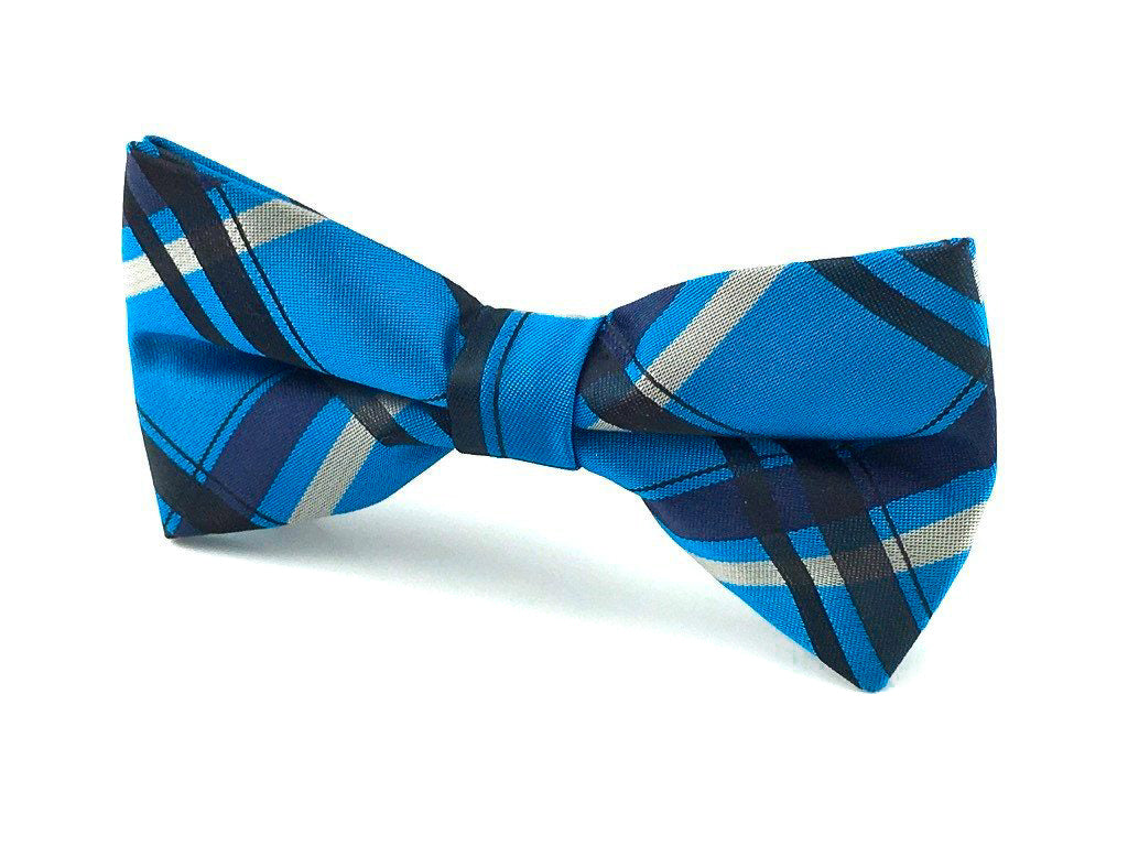 blue wedding bow tie