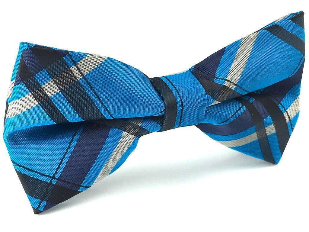 blue check bowties