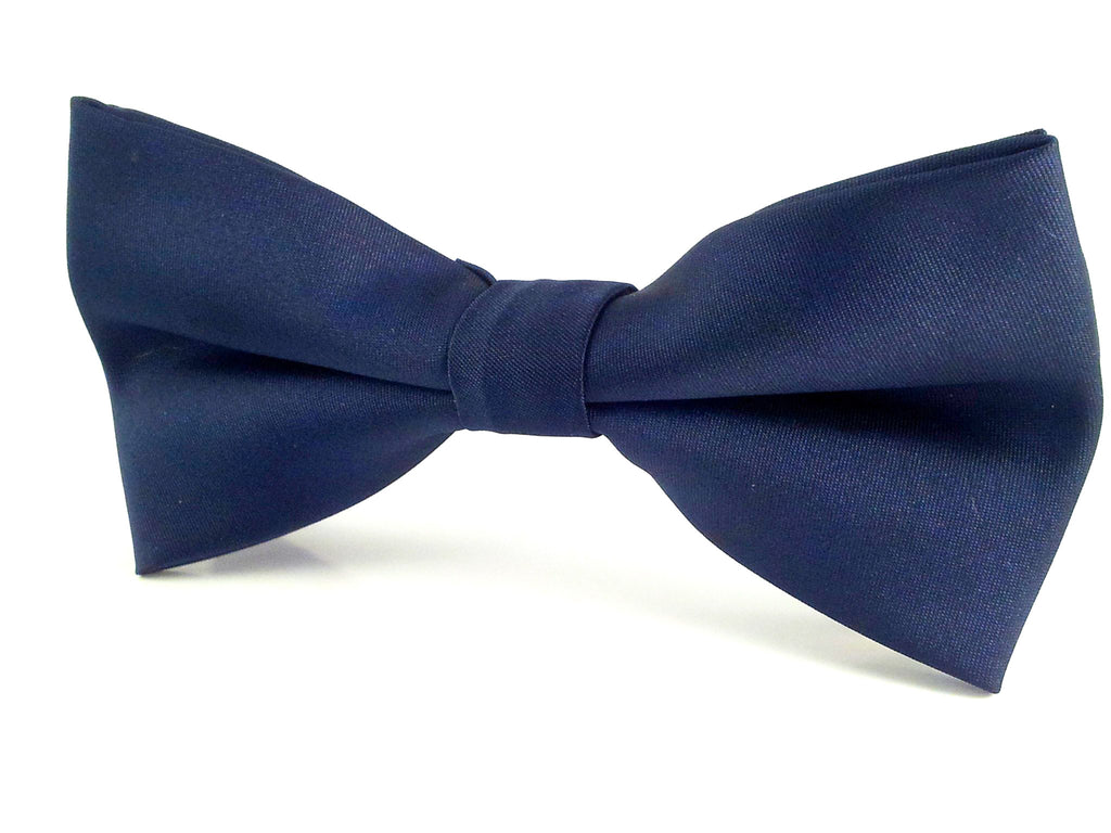 plain blue bowties