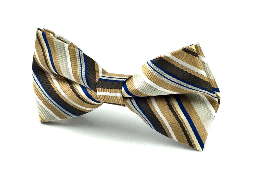 brown striped bowties