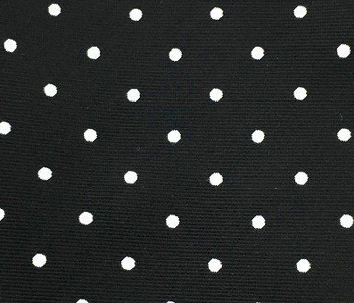 white dot black swatch