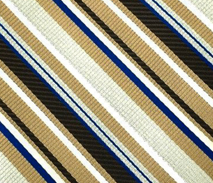 brown blue striped swatch