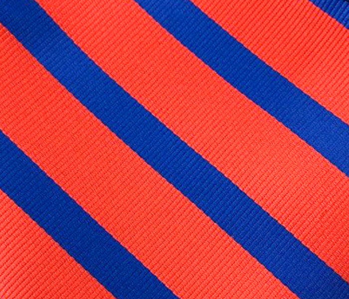 blue stripes red swatch