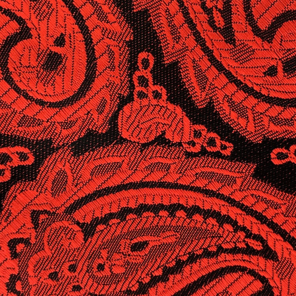 red paisley swatch