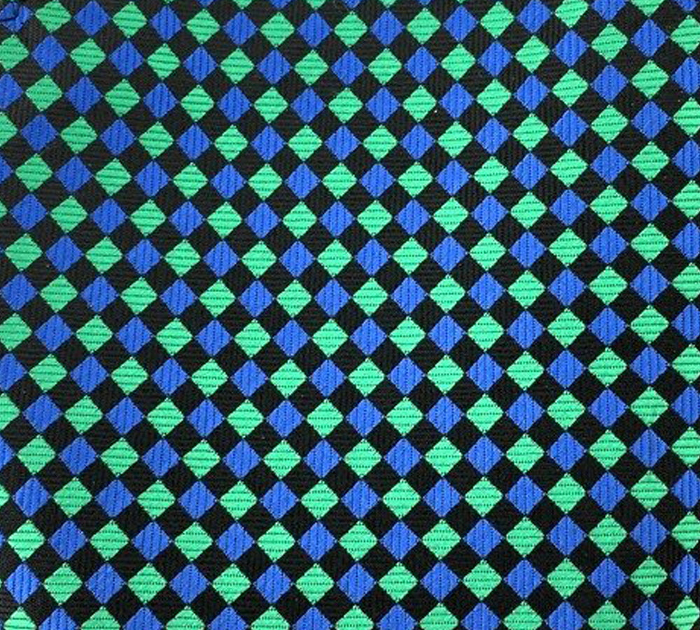 green blue black squares swatch