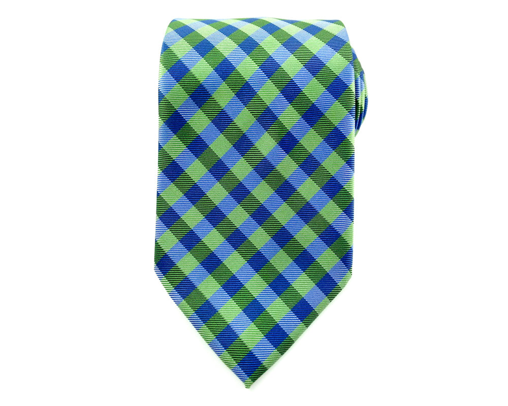 green gingham ties