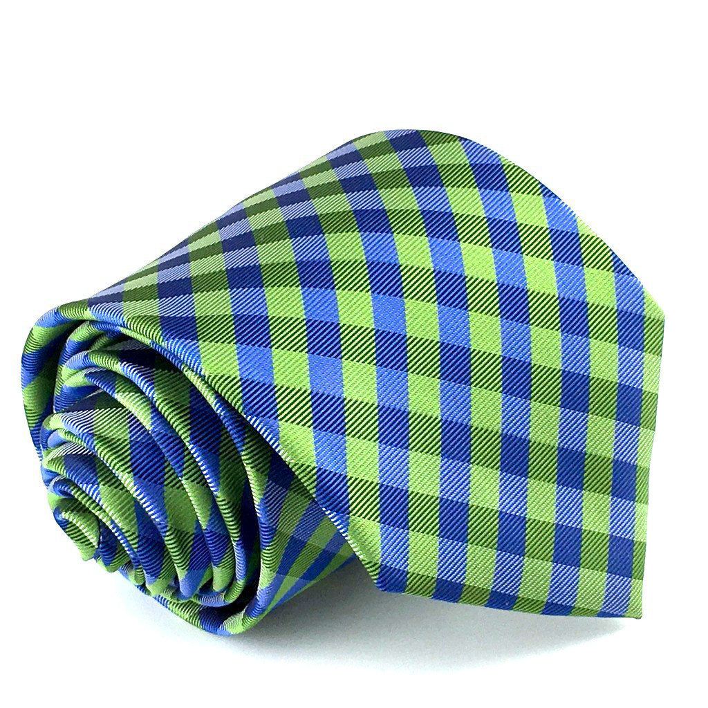 blue checkered neckties