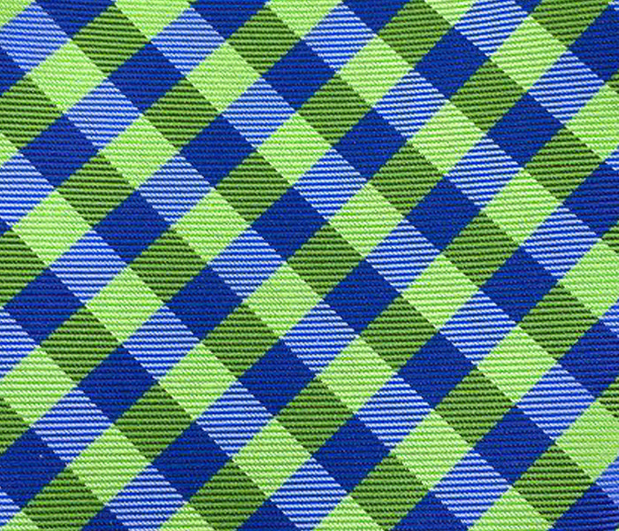 green blue gingham swatch