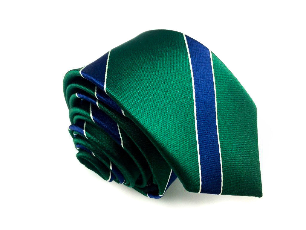 blue stripe slim ties