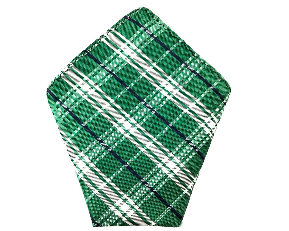 green check pocket square