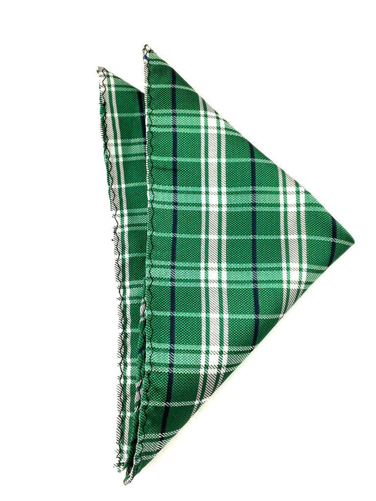 green plaid wedding hanky