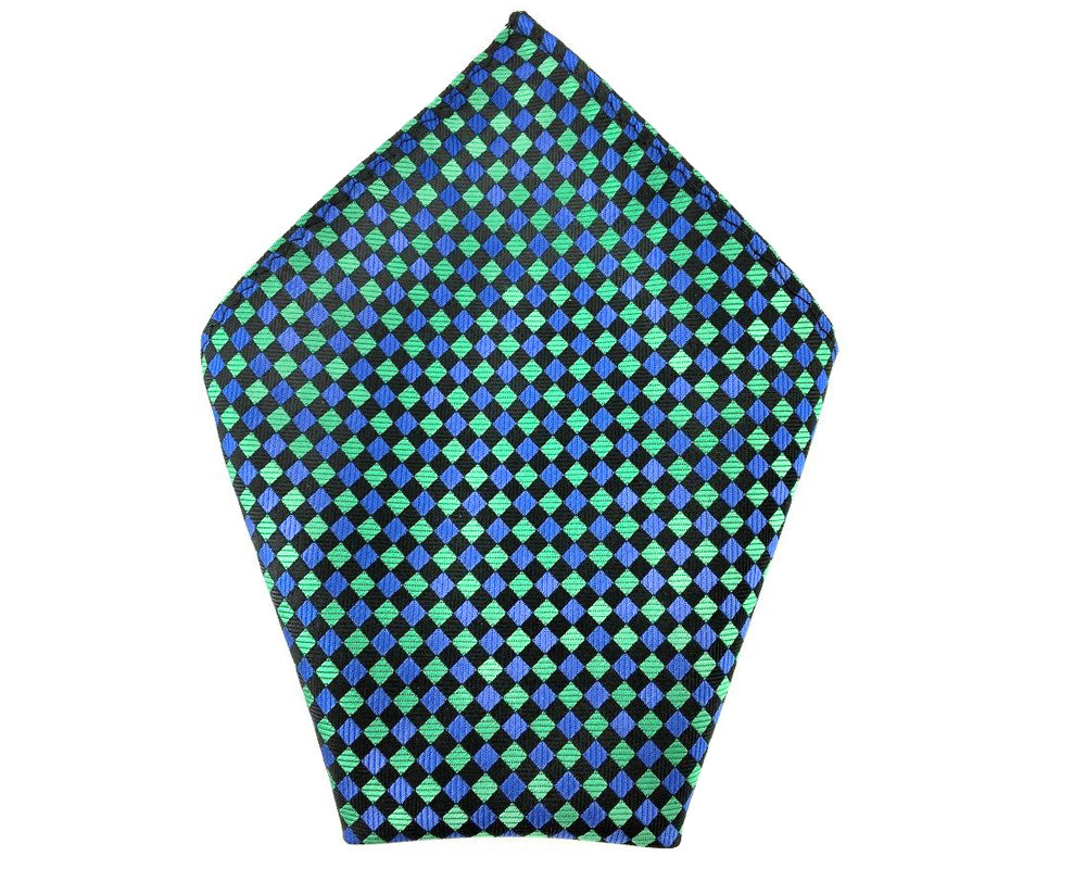 blue squares hanky