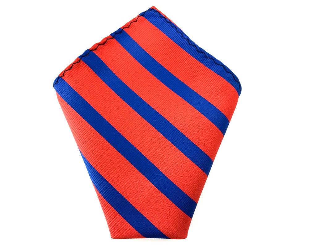blue stripe pocket square