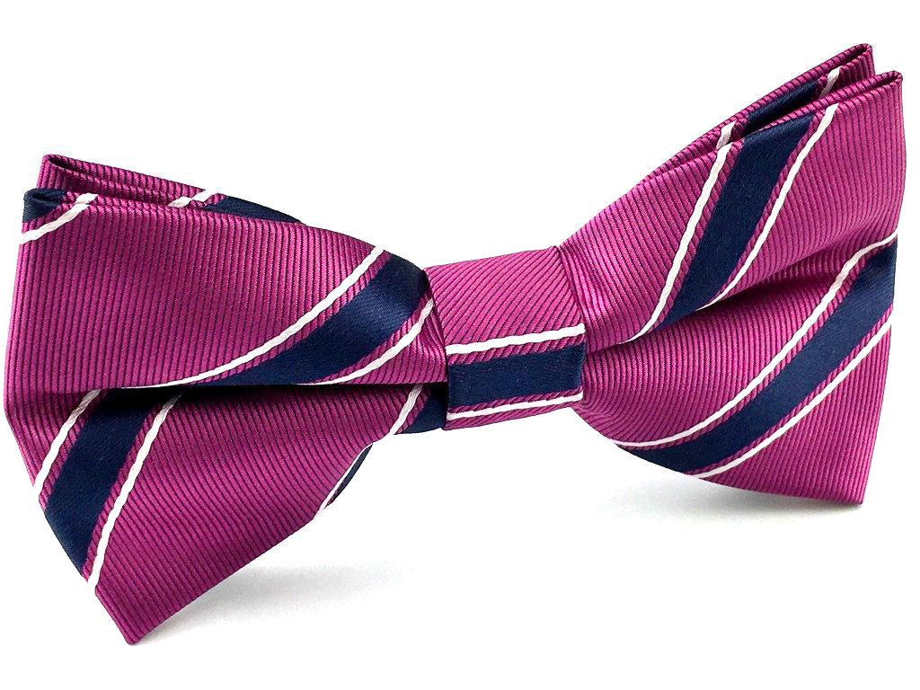 black stripe bow ties