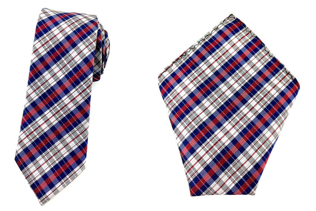 skinny tie pocket square set