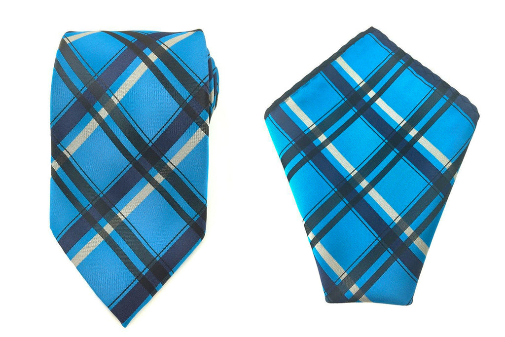 check necktie pocket squares