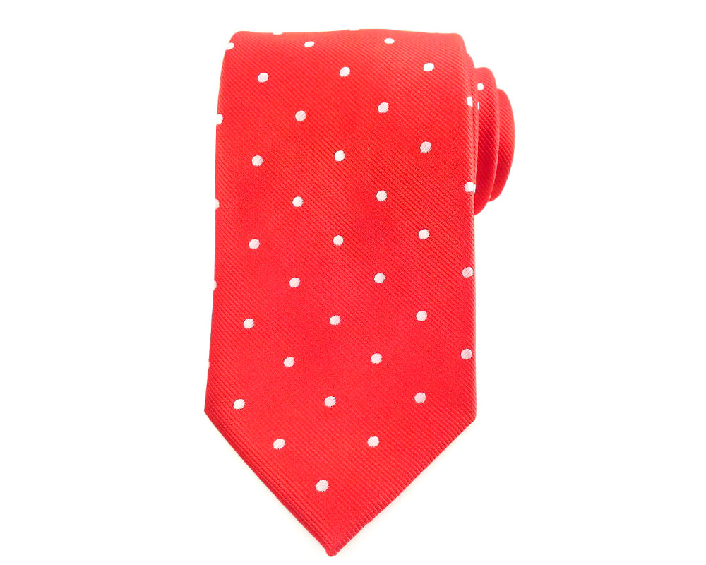 white polka neck ties
