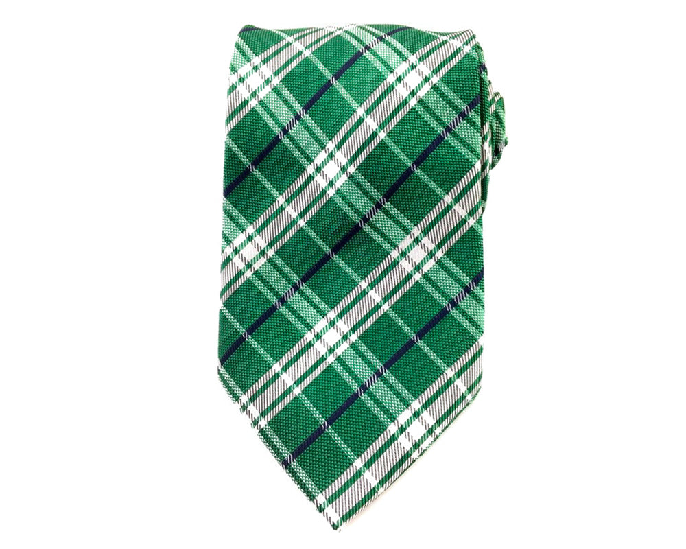 green checks neck ties