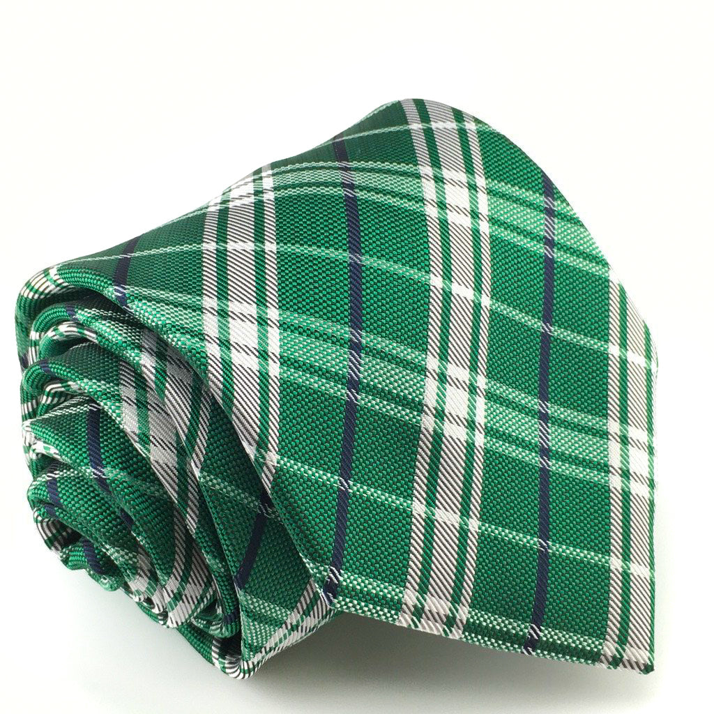 green white mens necktie