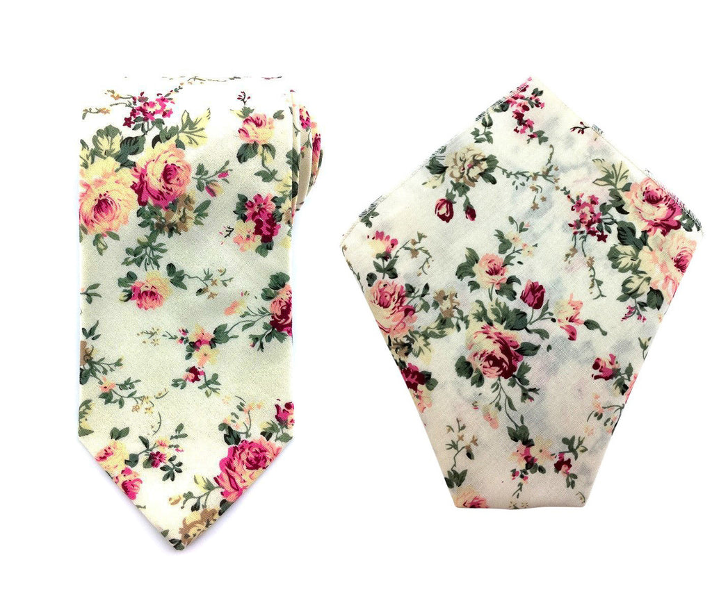 matching necktie hankies set