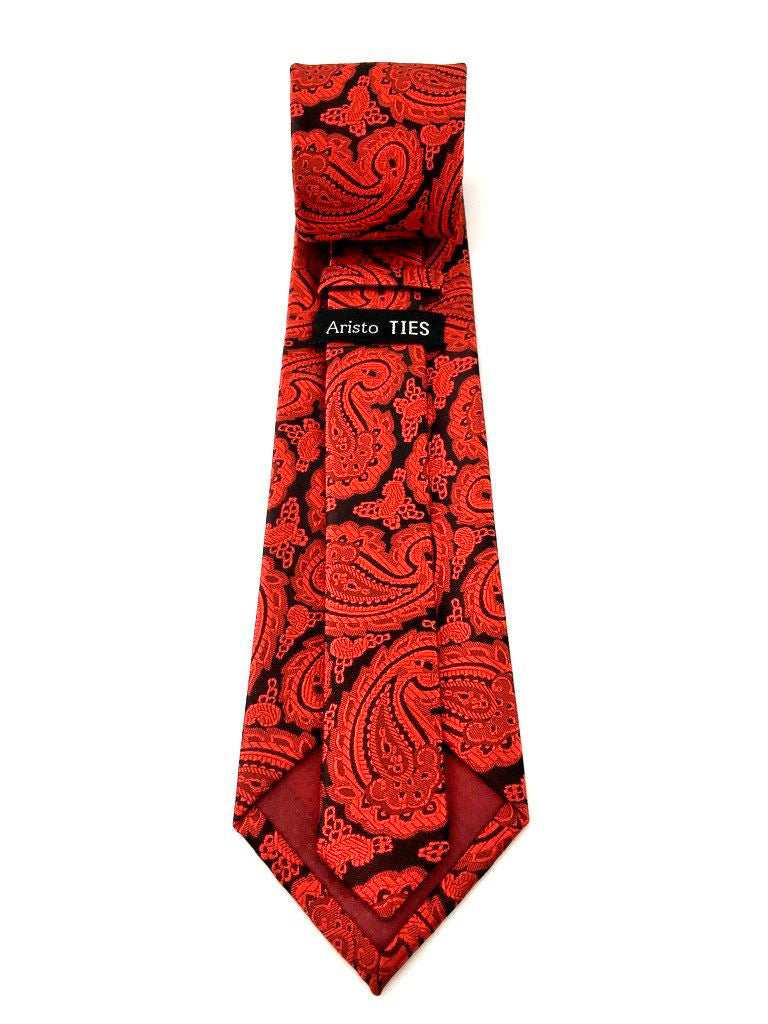 mens red necktie