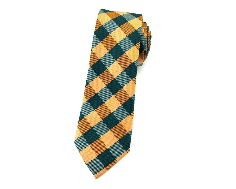 gingham neck ties