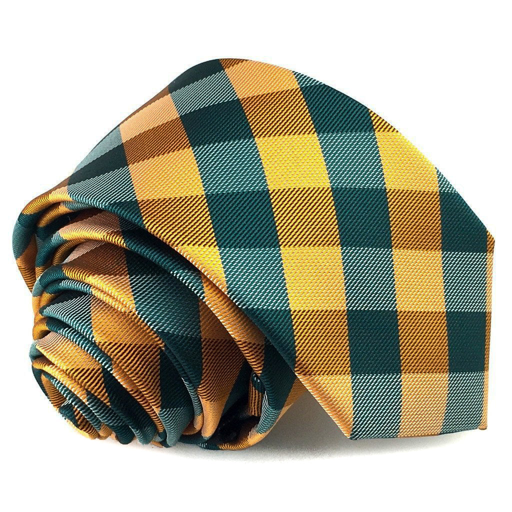 orange checks skinny ties