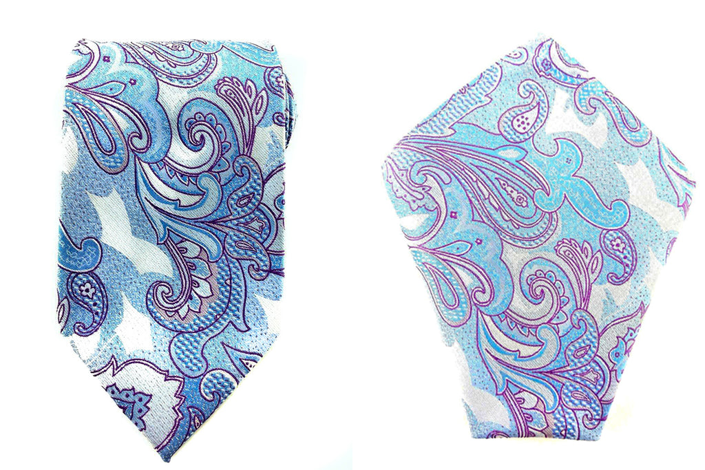 paisley necktie pocket square