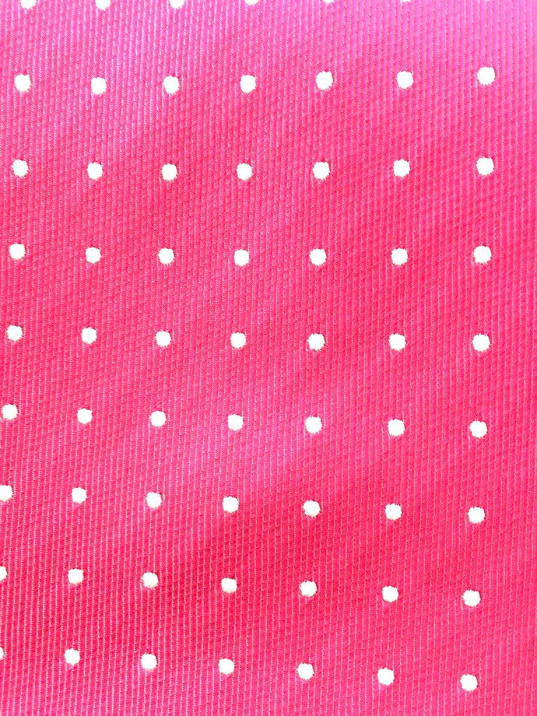 pink white dot swatch