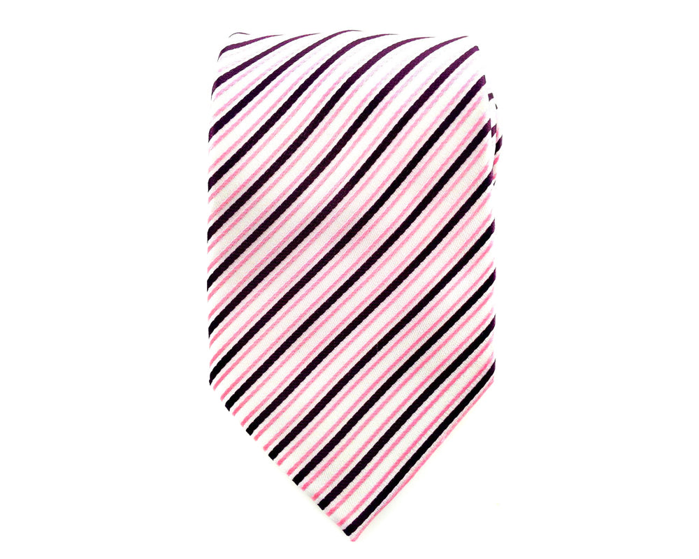 pink stripe ties