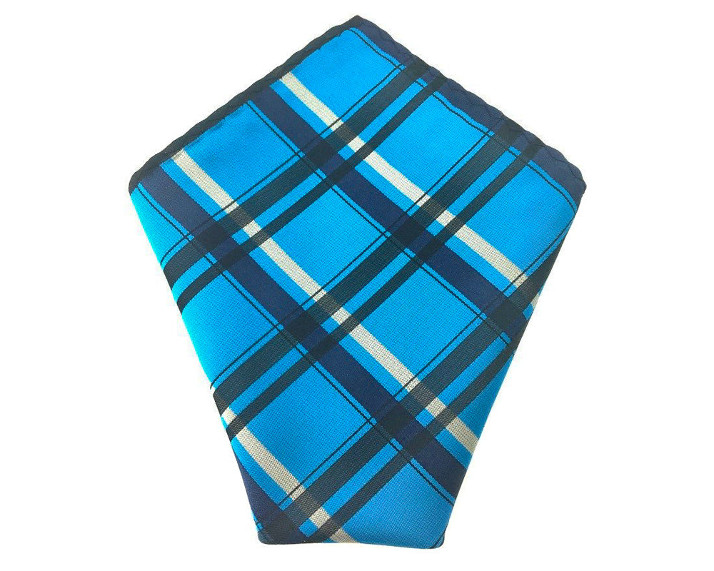 blue check hankies