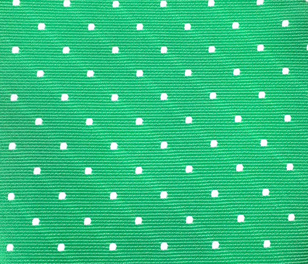 green polka dot swatch
