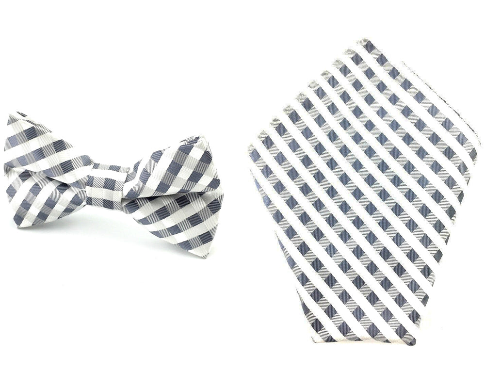 gingham bowtie pocket square