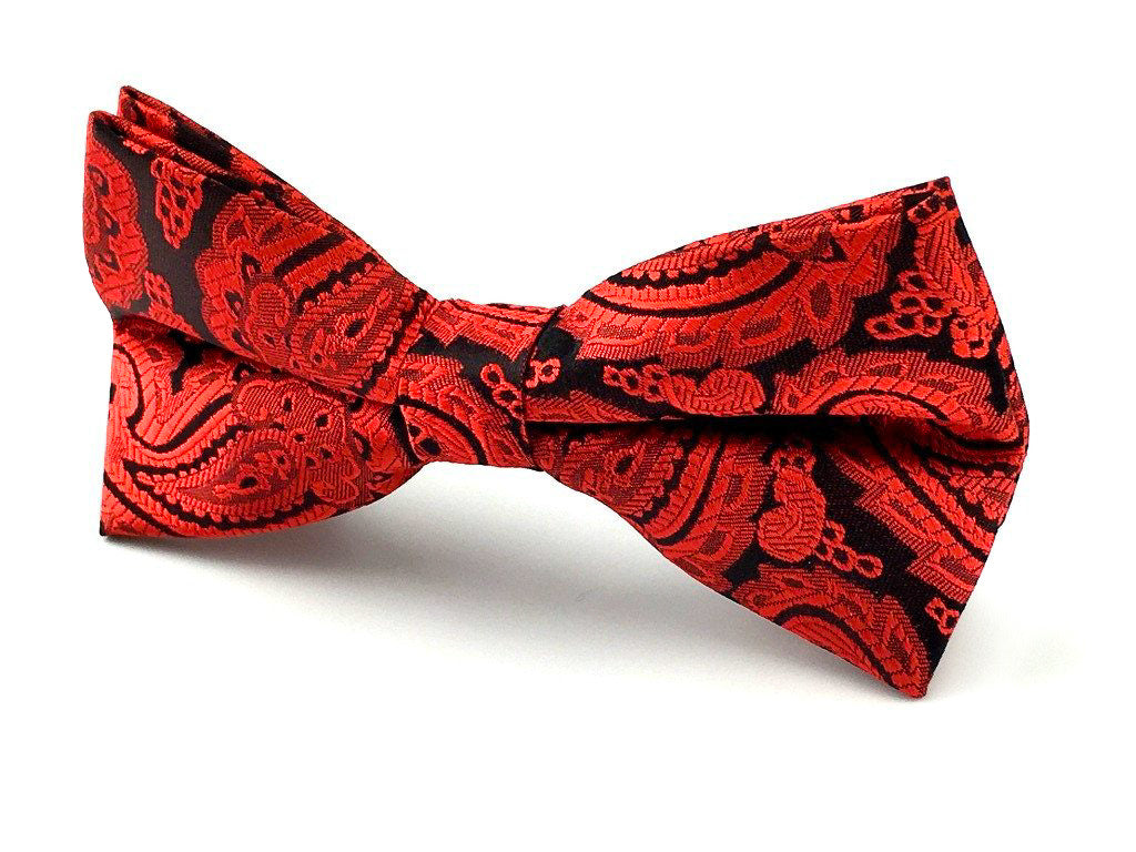 red paisley bowtie