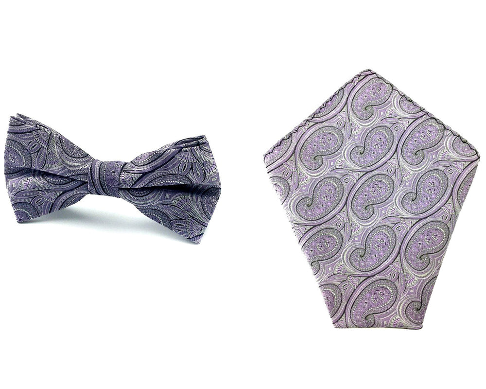 mens bowtie pocket square set
