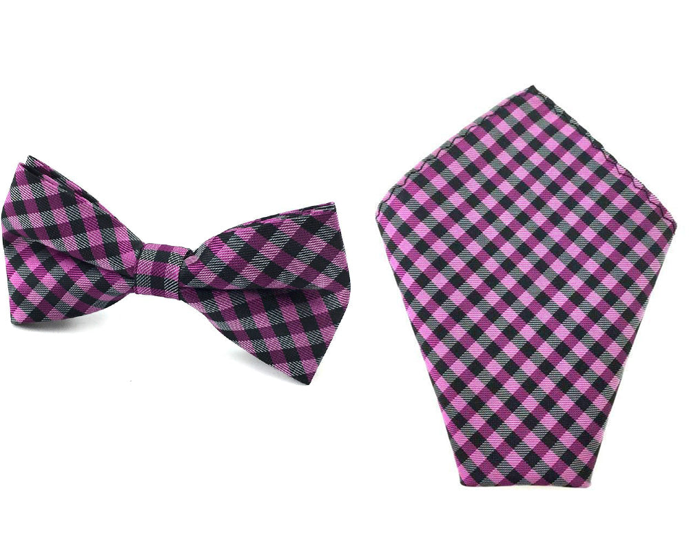 purple gingham bowtie hankies