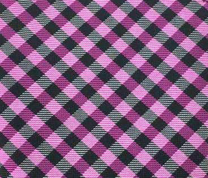 purple black gingham swatch