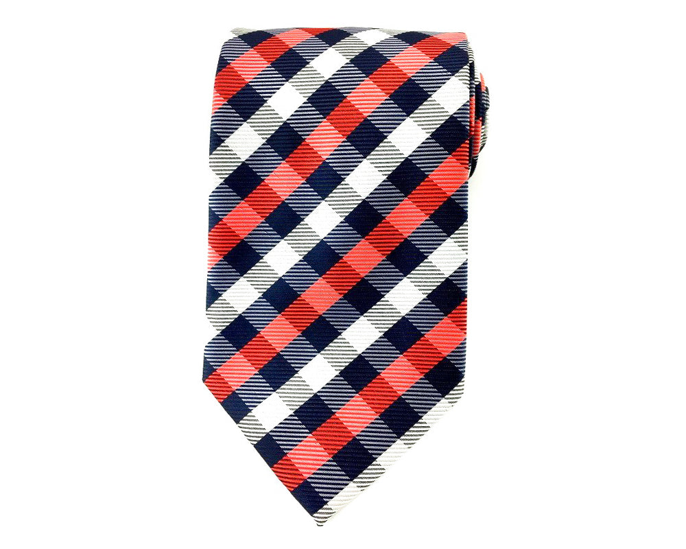 red checkered ties
