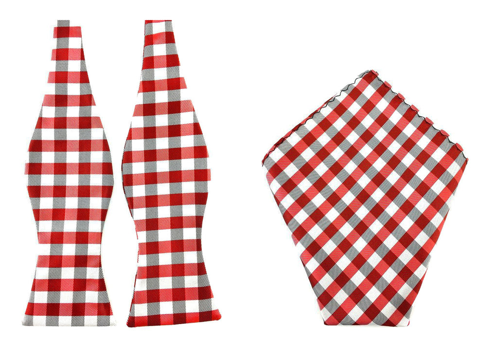 red gingham bowtie hankie