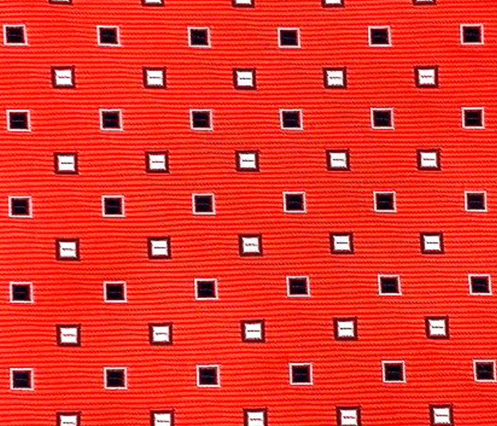 red with squares swatch