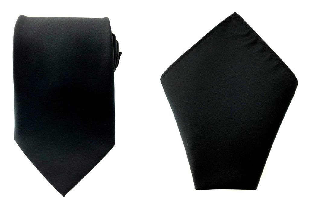 simple black necktie handkerchief