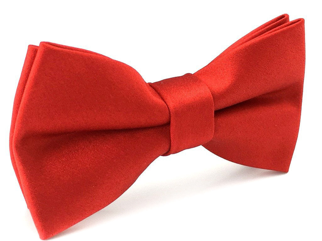 red wedding bowtie