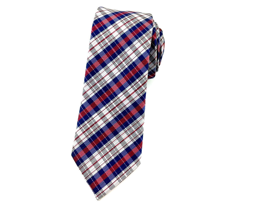 check slim necktie