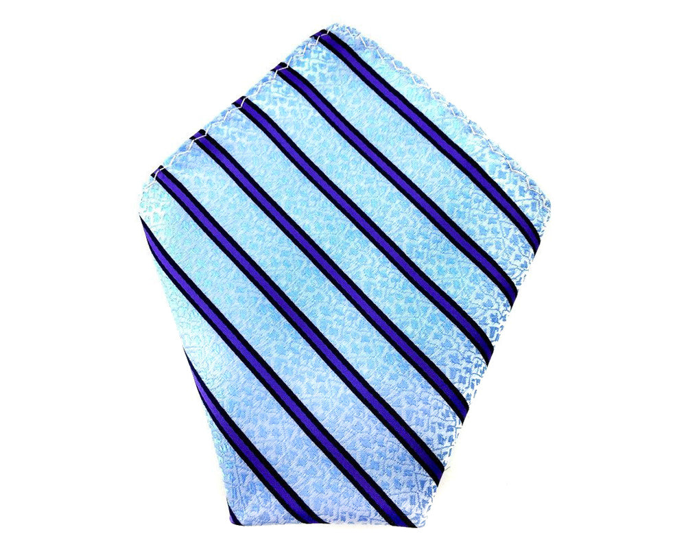 sky blue floral pocket square
