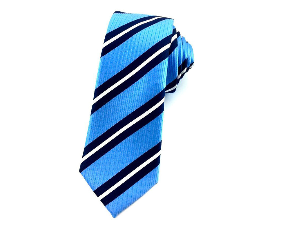 striped skinny necktie