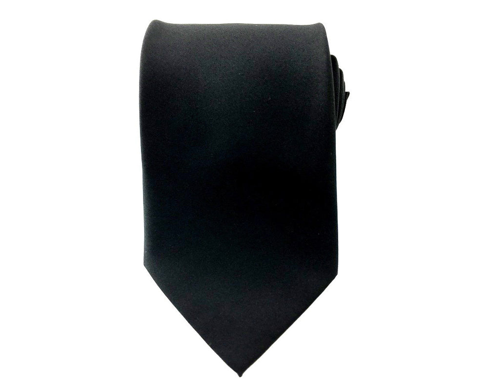 plain black neckties