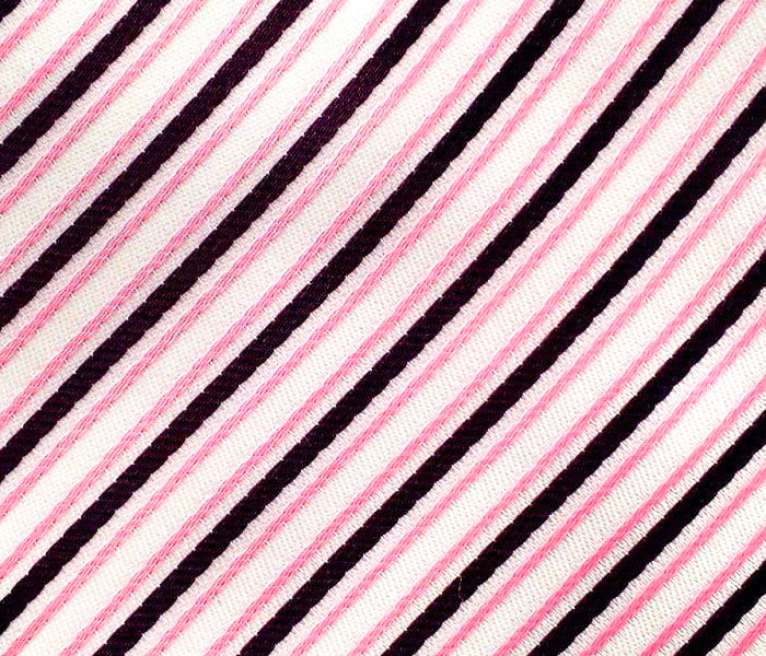 pink black stripes swatch