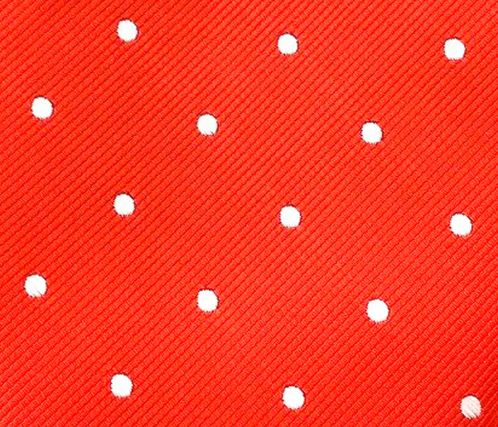 red polka swatch