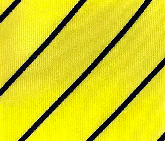black stripe in yellow swatch