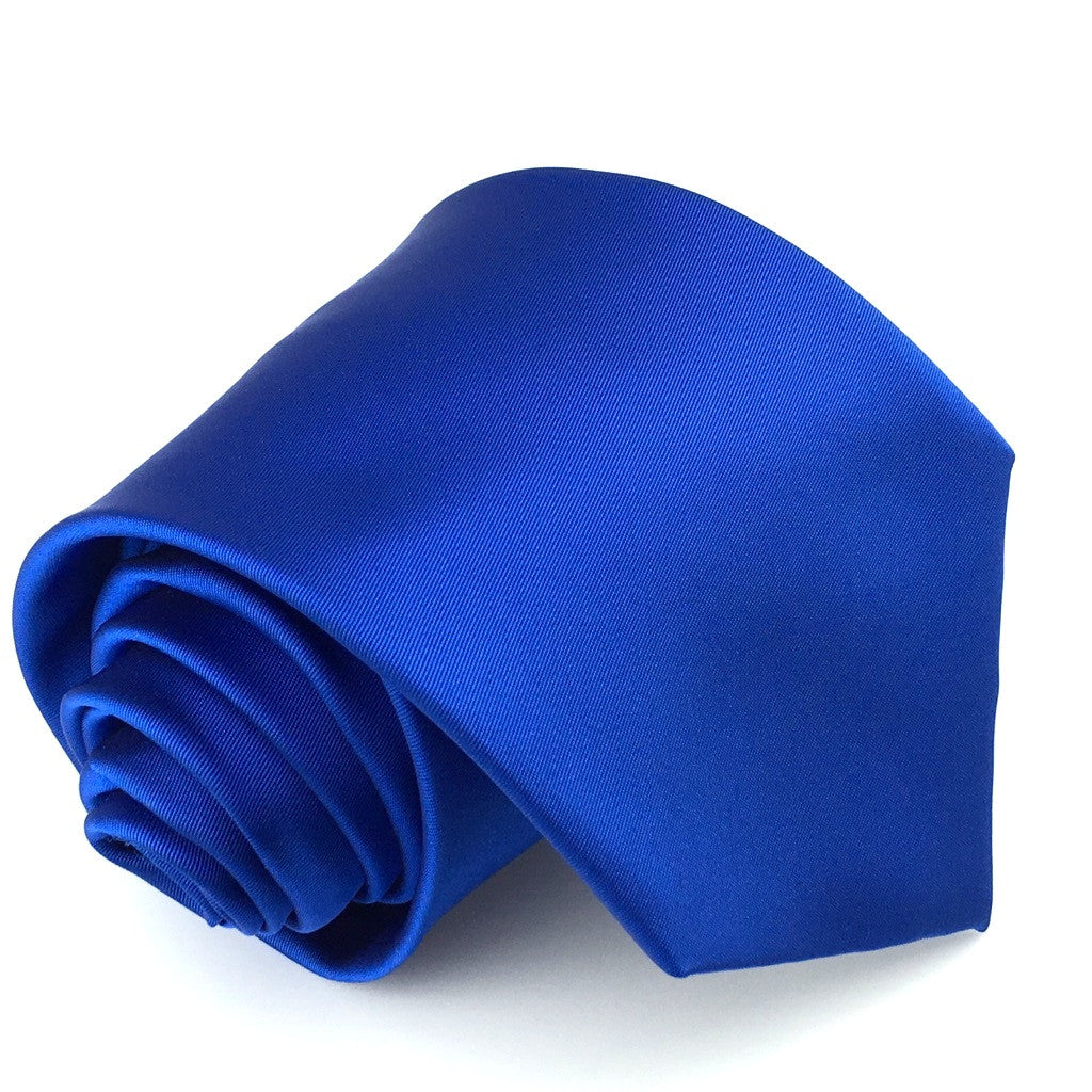 Marine Blue Solid Colour Necktie